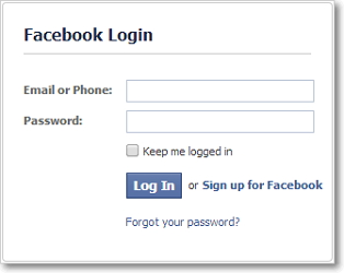 log in Facebook